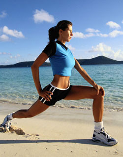 Picture of a female client enjoying a holistic fitness lifestyle.