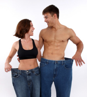 Image of fitness clients who have managed to lose fat and weight.