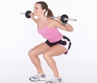 Image of a woman engaging in strength training.